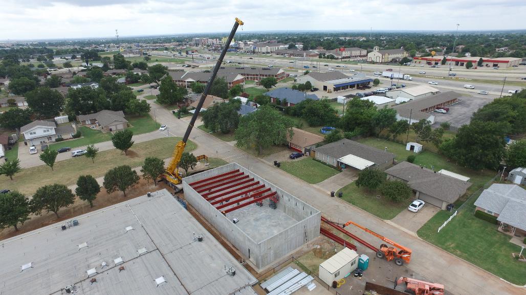 Northmoor Elementary - Safe Room - structural steel